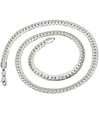 0e1f40bf6168 BoomYou Plata Plateada Sólida 925 Joyería de Las Cadenas de Serpiente  Hombres de Acero Inoxidable Cadena de Collar…