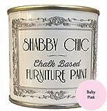 Shabby Chic Furniture Paint - Vernice a gesso per mobili, colore: rosa, per decorazioni shabby chic, 125 ml