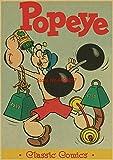 ahjs456 5d DIY Diamant Malerei Popeye Der Seemann Mit Betty Boop Poster/Klassische Cartoon Movie Home Wanddekor Kreuzstich Mosaik Rundbohrer 50x65cm SL-038-5