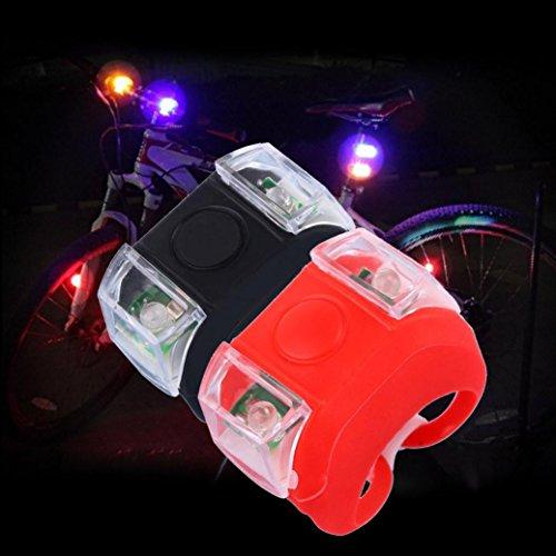 HCFKJ Fahrrad Licht Scheinwerfer Rücklicht Silikon LED Warnlicht Taschenlampe
