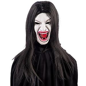 Carnival Toys 01423 - máscara de vampiro para adultos con el pelo