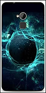 Snoogg Planets Lights Designer Protective Back Case Cover For HTC One-Max