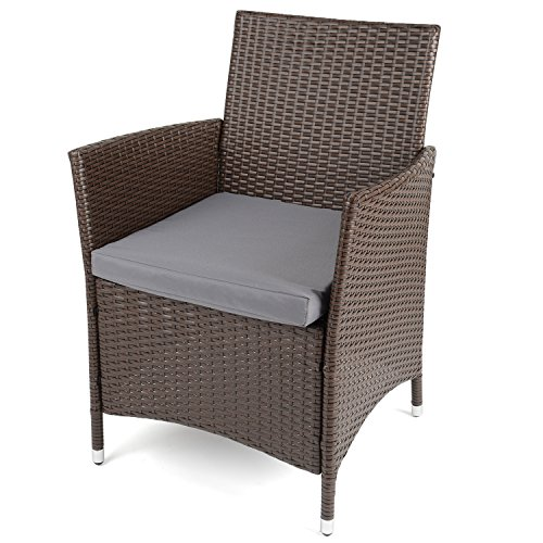 christow black rattan table chairs garden patio