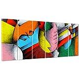Bild auf Leinwand Canvas–Gerahmt–fertig zum Aufhängen–Gitarre Musik–Kubismus–Picasso Style 190x70cm