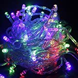 GVS Silver Copper Wire LED String Lights Holiday Lighting Fairy Christmas Tree Waterproof 'Wedding Party Decoration ( Blue )