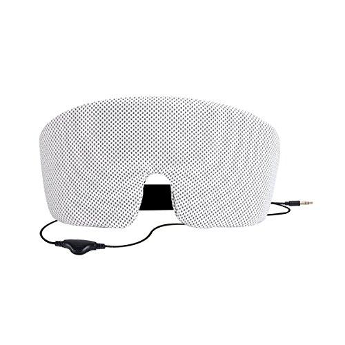 Preisvergleich Produktbild Schlafmaske mit Integriertem Kopfhörer für Smartphone, Tablet, MP3 Player für Schlaflosigkeit, Reise, Entspannend usw, von AGPtek