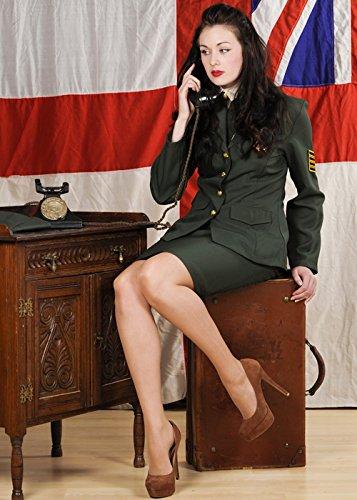 1940er Jahre Kostüm während des Krieges Offizier Damen Small (UK 8-10)