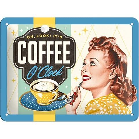 26183 Nostalgic-art say it 50 's o'clock coffee en métal 15 x 20 (50 Metallo)