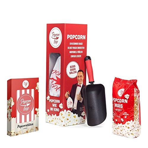 Popcornloop Kino Set Popcornmaschine für Popcorn Mais Zuhause Kino Retro Heimkino Popcornmaker