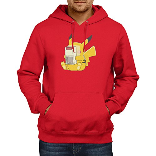 Herren Kapuzenpullover, Größe XL, rot (Pikachu Anzug)