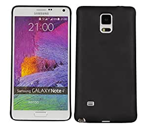 Galaxy Note 4 N9100 Case, Heavy Duty Cover Ultra Slim Fit Protection Back Cover For Samsung Galaxy Note 4 N9100 (Black)