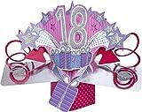 Pop-Up Card 19406 - Karte, Geburtstag 18, Mehrfarbig