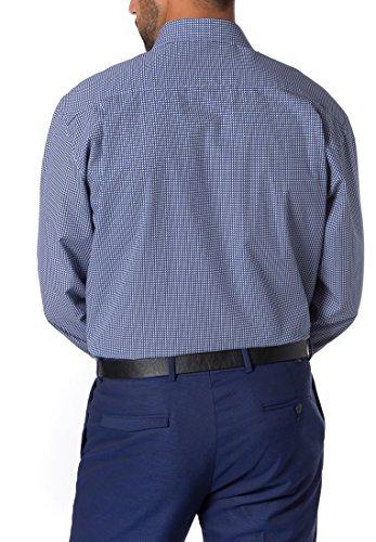 ETERNA long sleeve Shirt COMFORT FIT Poplin printed blu marino/bianco