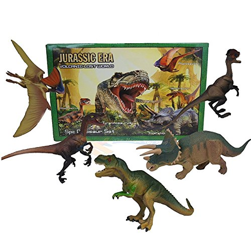 5PC PLASTICO ANIMALES DINOSAURIO T REX JUEGO DE ACCION JUGUETES CIFRAS CAJA NIÑOS GAME SET