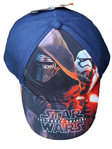 Star Wars Episodio VII -Kylo Ren e Stormtrooper cappello visiera bambino-ragazzo ep4399 (blu, 54)
