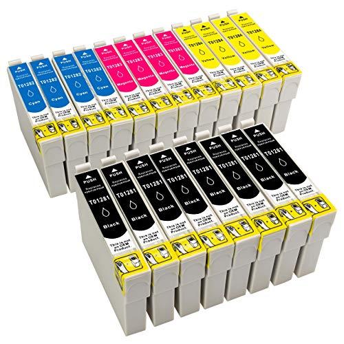 ESMOnline 20 kompatible Druckerpatronen als Ersatz zu Epson 1281 1282 für Epson Stylus SX445W SX440W SX435W SX420W SX235W SX130 SX125 S22 Stylus Office BX305FW Plus BX305FW BX305F (T128x) 1283 1284 1285