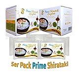 5er Pack - AZ Prime Shirataki Nudeln, Konjaknudeln, Low Carb Pasta - (Fettfrei, Glutenfrei,100% Vegan, Kalorienarm) - Box Spaghetti Dünn Angel Hair (290g x 5)