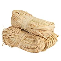 TAZEMAT 150g Natural Raffia Ribbon for Gift Wrapping Christmas Wreaths Florist Bouquets Decoration Ties 3 Bundles DIY Craft Weaving Garden Use Tying Plants Vegetables Hanging Tags
