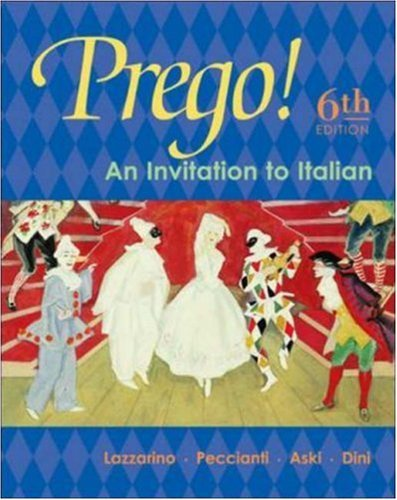 Prego! An Invitation to Italian Student Edition with Bind-In Card by Graziana Lazzarino (2003-11-14)