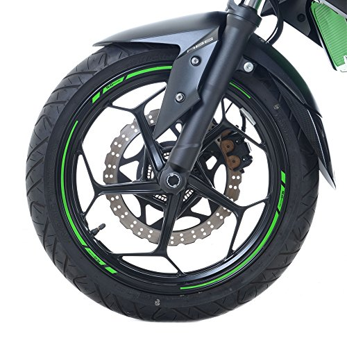 18 and 19 Motorcycle /& Car Wheels colour selectable 16 17 neon yellow Wandkings GP wheel rim sticker for 15