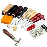 Enipate artigianale in pelle mano cucitura punteruolo cucito attrezzo filo cerato ditale kit 14PCS/set