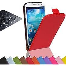 EximMobile - Flip Case Handytasche + Panzerglasfolie für Nokia Lumia 820 | Schutzhülle in Rot | Handyhülle aus PU-Leder Tasche | Cover Etui Hülle mit Panzerglas Schutzfolie Panzerfolie