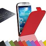 Eximmobile Flip Case Handytasche + Panzerfolie für Nokia Lumia 630 Schutzhülle in Rot Handyhülle aus Kunstleder Tasche Cover Etui Hülle mit Echt Glasfolie Schutzfolie Bildschirmschutzfolie