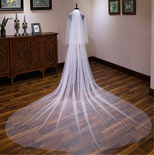 Velo da sposa, pettini di alta qualità di lusso lungo tratto doppio strato accessori abito da sposa sposa sposata hen party cattedrale dress velo