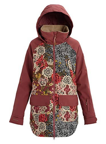 Burton Damen Prowess Snowboard Jacke, Cheetah Floral/Rose Brown, L