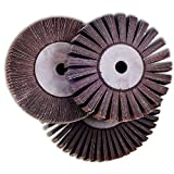 TronicXL Lamellenscheibe Messerschleifer Schleifmaschine Schleifgerät Lamellenschleifer lamellenschleifscheibe (150 x 40 x 14 mm KORN 100)