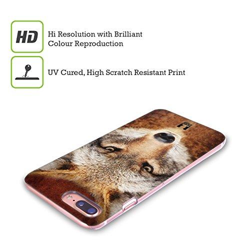 Head Case Designs Tigre Volti Di Animali Cover Retro Rigida per Apple iPhone X Coyote