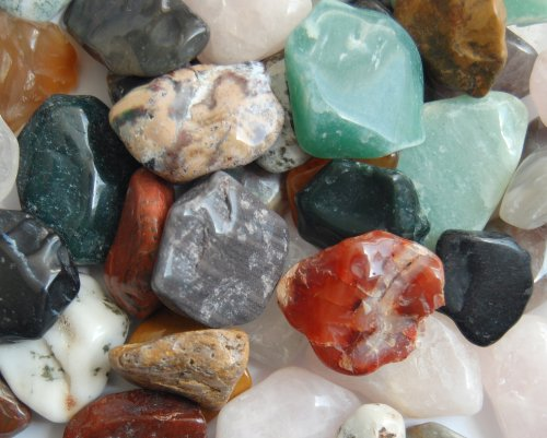 Edelsteine, anpolierte Trommelsteine, bunte Mischung, Größe ca. 2 - 3 cm, 500 g-Beutel