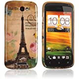 tinxi® Design Silikon Schutzhülle für HTC One S Hülle Cover Skin Case Etui Schutzhülle Tasche Eiffelturm