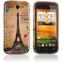tinxi® Custodia case in silicone per HTC One S case cover protettivo concezione speciale con Torre Eiffel