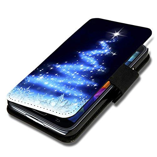 Book Style Flip Handy Tasche Case Schutz Hülle Schale Motiv Foto Etui für Apple iPhone 5 / 5S - X14 Design4 Design 2