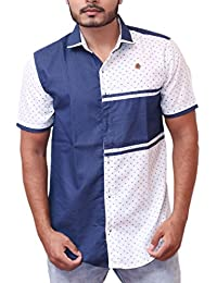PP Shirts Men White Coloured Printed Casual Shirt