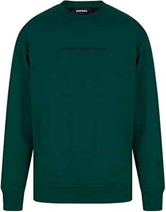 Diesel S-Biay-Copy Sweatshirt in Brazil Green Small