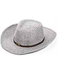 d3fdd003f9 Sombreros Vaquero Masculino Verano Protector Solar Anti-Ultravioleta Copa  Playa Ocio TIDLT (Color