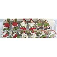 Mollette Natale Renna natalizia o Babbo natale in latta soggetti a scelta 6 PZ - Chiudi pacco Segnaposto