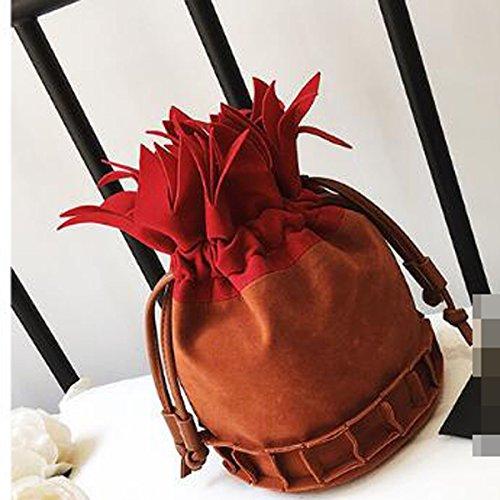 Grind Arenaceous Borse Handbags Modo Per Le Donne Semplice Satchel Brown