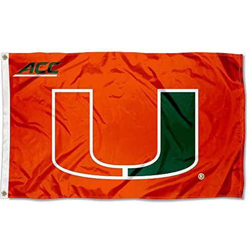 College Flags and Banners Co. University of Miami Hurricanes Acc 3x5 Flagge - Miami Hurricanes 3x5 Flag