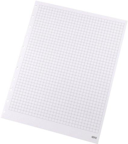 refill-papier-kariert-f-arc-spiralbuch-weiss-a4-100g-50-blatt-22005