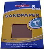 SupaDec Decorator Sandpaper Assorted Pack of 12 468198