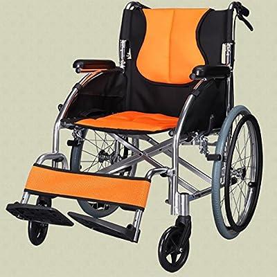 GUO Plegable y ligero de aluminio carro de mano portátil ancianos en silla de ruedas scooter de personas con discapacidad