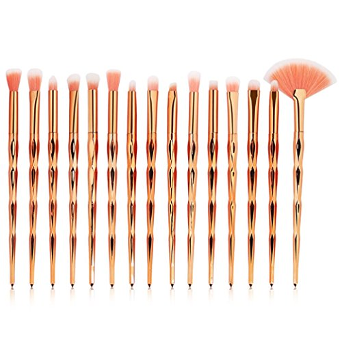 Make-up Pinsel Set Clode 15 Stücke Meerjungfrau Foundation Augenbraue Lidschatten Lippenpinsel...