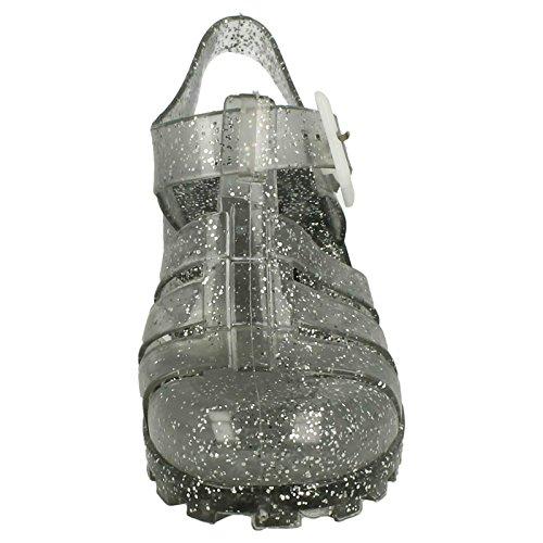Girls Spot On paillettes Gelée Chaussures Smoke Glitter