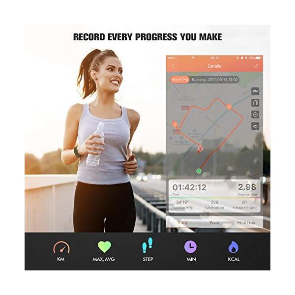 Runme Activity Tracker, Fitness Tracker con Monitor de Ritmo cardíaco y sueño, Smart Fitness Watch con Podómetro, GPS… 5