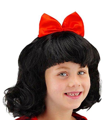(Folat 26800 Perücke Schneewittchen Kinder Wig, schwarz/rot, One Size)