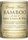 Canny Mum multi-purpose bamboo 2-in-1 nappy liners & wipes (200 sheets/roll)