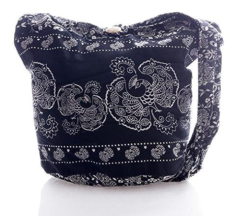 Avarada Thai Cotton Hippie Hobo Sling Crossbody Bag Messenger Purse